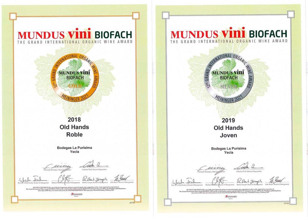 Medallas de Oro Plata Mundus Vini 2021